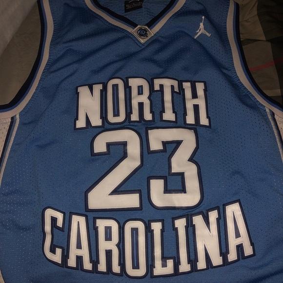 online store a78e5 5f073 Blue UNC Michael Jordan Jersey Stitched Size M